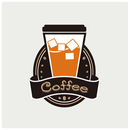 Vector icon of a speciality coffee. Illustration