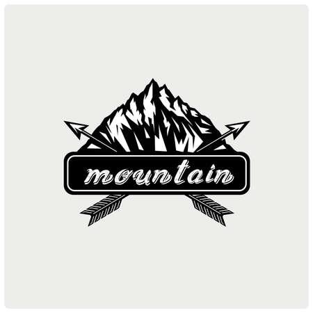 Logo mountain. Vector illustration. Illustration