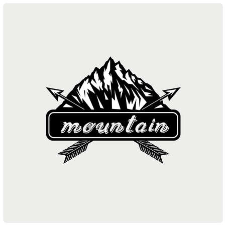 Logo mountain. Vector illustration. Illustration