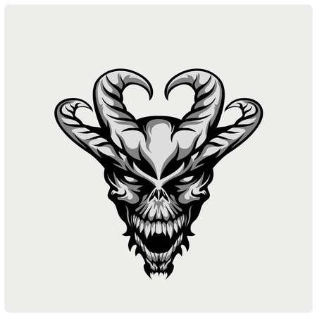 satan: Teufel-Kopf Abbildung
