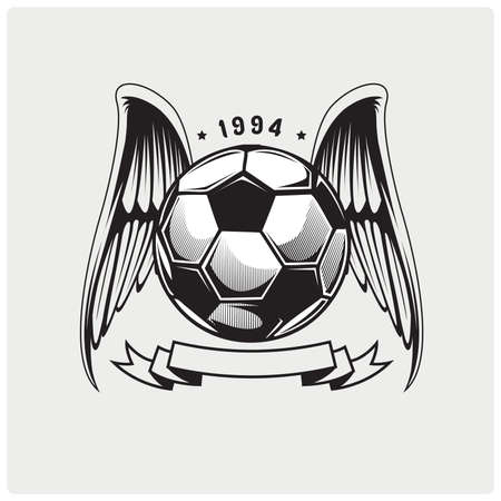 Vector illustration of soccer ball logo.