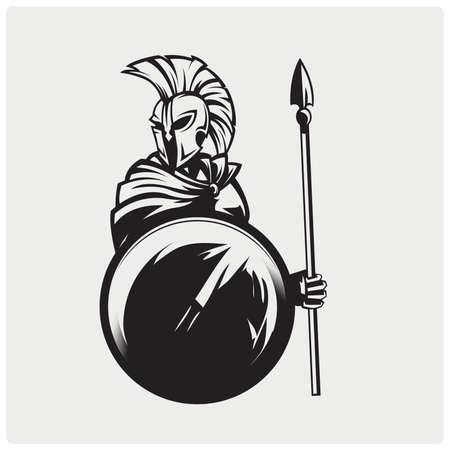 Illustration de guerrier spartiate.