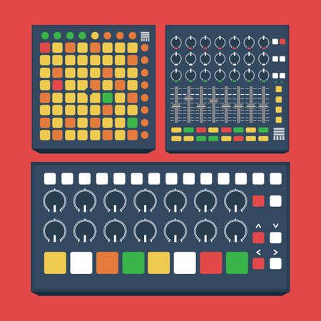 midi: Flat Design Midi Controller