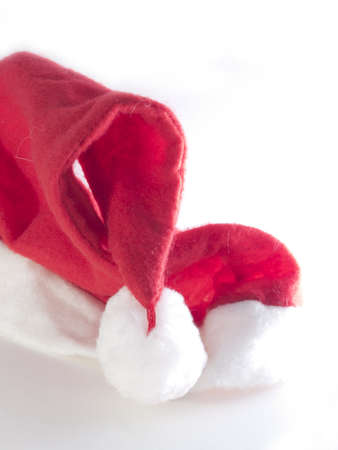 allegro: Typical Santa Claus hat on white back ground Stock Photo