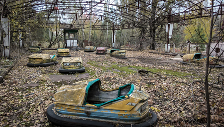 abandoned amusement park in Chernobyl Archivio Fotografico