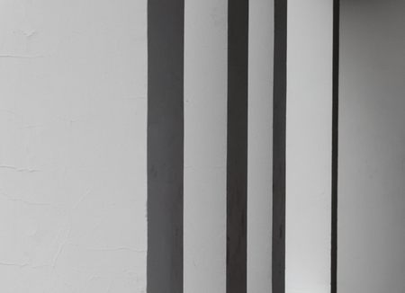abstract black white pattern row of gray walls