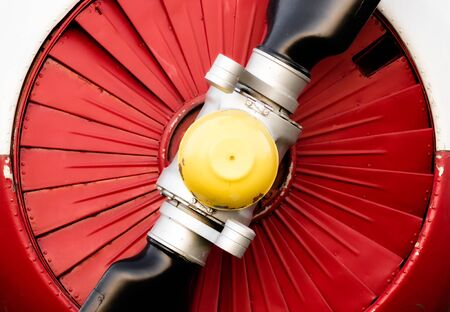 color background propeller engine vintage airplane closeup Stok Fotoğraf