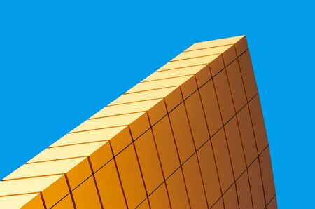 abstract background yellow and blue shape geometry line surface hue gradation Reklamní fotografie