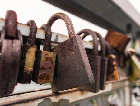 old iron locked padlock abstract vintage background Stok Fotoğraf - 149785815