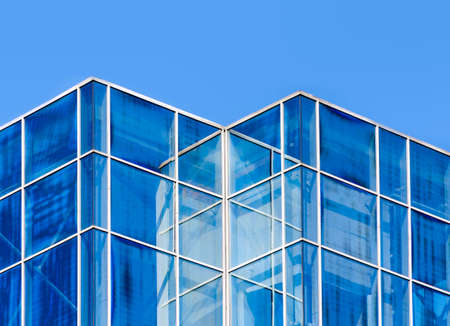 empty windows of office building without people abstract modern architectural background