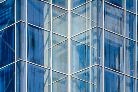 empty windows of office building without people abstract architectural background Stok Fotoğraf