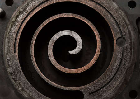 metal spiral part mechanism industrial background close up Stok Fotoğraf