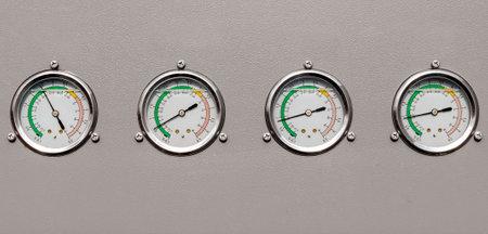 instrument panel multiple pressure gauges technical background Stok Fotoğraf