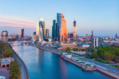 Moscow City - view of skyscrapers