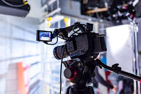 Detrás de escena de producción de video o grabación de video
