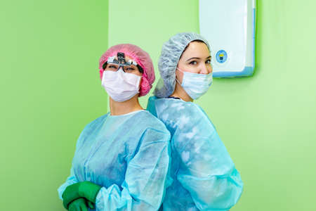 Surgeons team working in hospital Reklamní fotografie