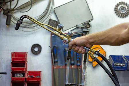 argon arc welding, Inert gas shielded arc welding in a Workshop 版權商用圖片