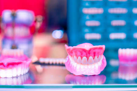 Dental orthodontic tools. device for making a molded tooth, dental prosthetics. Molding teeth. Stock Photo