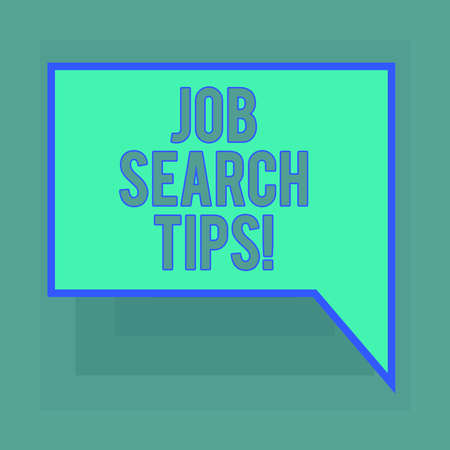 Conceptual hand writing showing Job Search Tips. Business photo text Recommendations to make a good resume to obtain a position Blank Deformed Color Round Shape with Small Circles