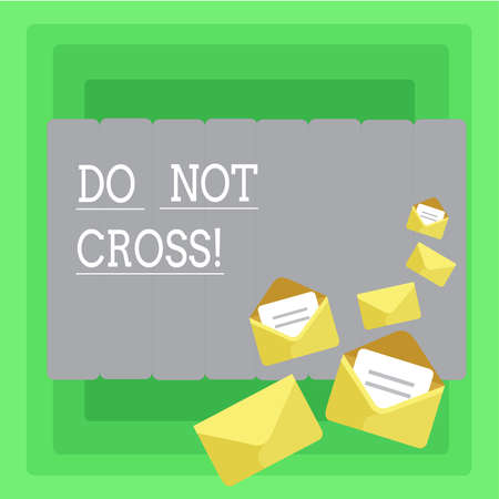 Word writing text Do Not Cross. Business concept for Crossing is forbidden dangerous caution warning not to do it