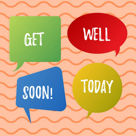 Conceptual hand writing showing Get Well Soon. Business photo text Wishing you have better health than now Greetings good wishes