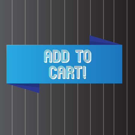 Conceptual hand writing showing Add To Cart. Business photo showcasing Online purchasing ecommerce modern technologies to shop