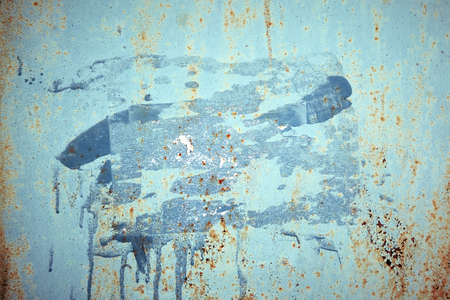 Texture old paint on a rust metal surface. Metal background, rust, copy space Banque d'images - 137853507