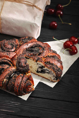 Buns with poppy seeds. Russian national food Stock fotó