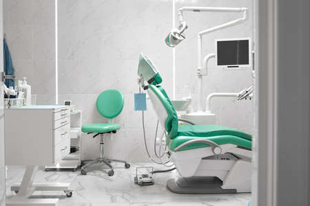 Interior of a dentists office and special equipment