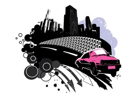 City grunge Vector