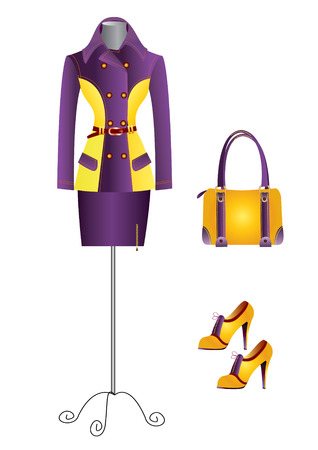 Woman suit and accessories Vector