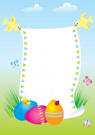 Easter postcard Vector