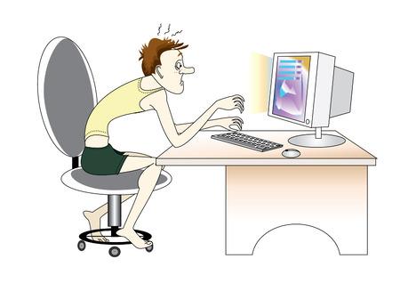 tiredness: Computer fan. Internet