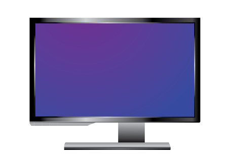 PC. Monitor on white Vector
