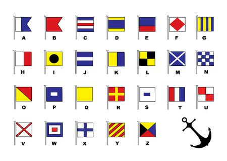 Banderas de vela. Alfabeto Foto de archivo - 4513493