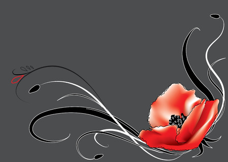 poppy leaf: Poppy pattern Illustration