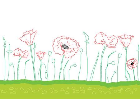 Poppy background Stock Vector - 4513553