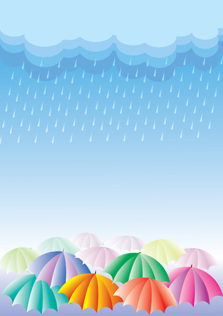 umbrella rain: Rain Illustration