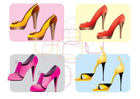 adult footprint: Fashion vector shoes. Illustration