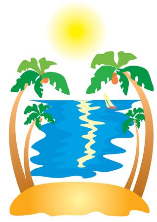 Island.Tourism Vector