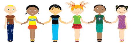Nationale children.Friends Vector Illustratie