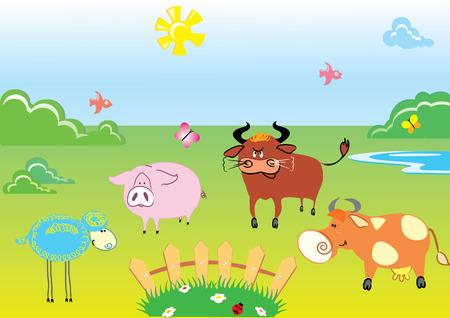 Farm.Animals Vector
