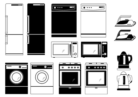 Domestic appliances Vector