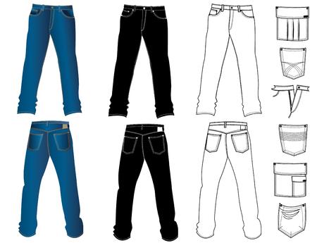 Jeans for men Vector