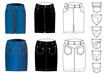 Jeans clothes Stock Vector - 5409222
