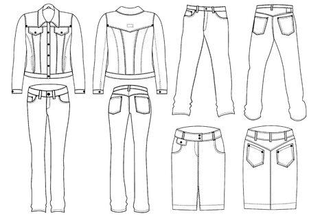 zip: Jeans clothes Illustration
