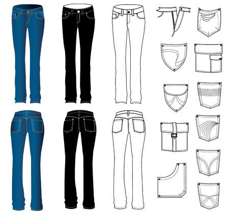 pants: Jeans.Vector Illustration
