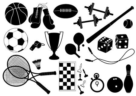 sports equipment: Vector sports equipment Illustration