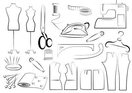 coser: Equipo de costura Vector Vectores