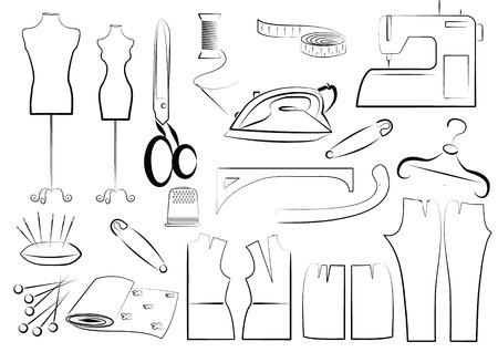 sew: Vector naaien apparatuur